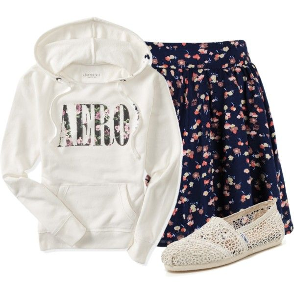 A fashion look from September 2015 featuring Aéropostale hoodies and TOMS flats. Browse and shop related looks.