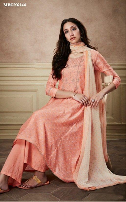 0ba253f40d6 Suit Set in Peach Colour Online Shopping For Ethnic Wear  Buy Designer  Sarees