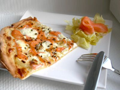 tarte flambee saumon