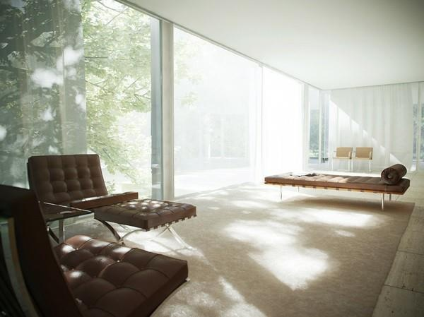 This Is A Bauhaus Furniture Collection Based On The Mies Van Der Rohe  Farnsworth House.