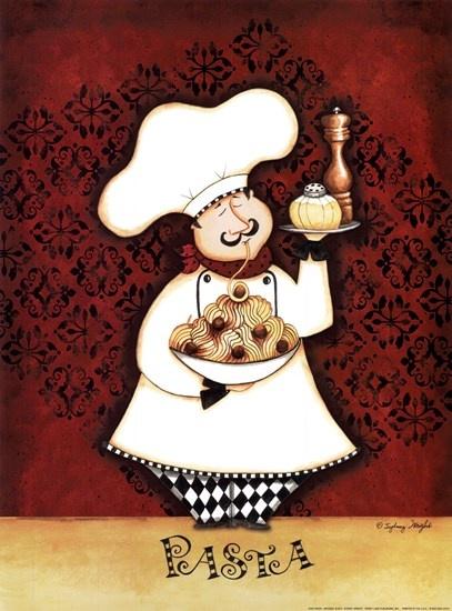 Chef Pasta by Sydney Wright art print