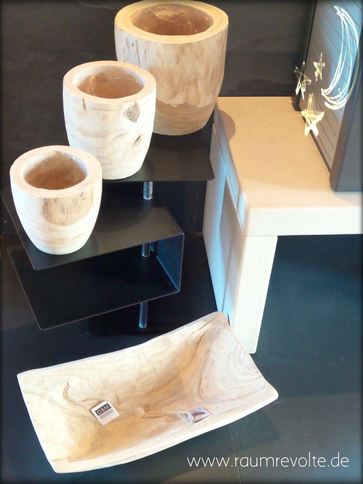 Topf- und Schalenkollektion aus Anna-Paulowna Holz