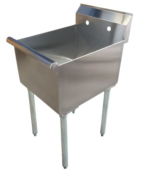 "18"" One Compartment Commercial Sink"