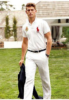 Polo Ralph Lauren Linen Sport Coat, Custom-Fit Short Sleeve Jockey Club Polo #