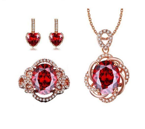 Bijuterii cu cristale rosii http://www.bijuteriifrumoase.ro/cumpara/set-bijuterii-elegant-3352