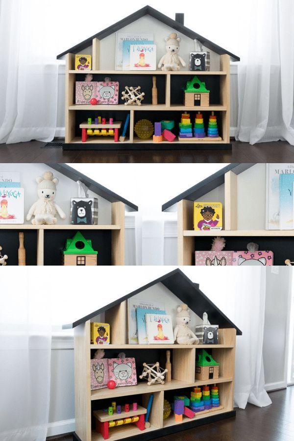 Dollhouse Bookcase Diy Free Plans For A Modern Dollhouse Bookcase Bookcase Diy Dollhouse Bookcase Bookshelves Diy
