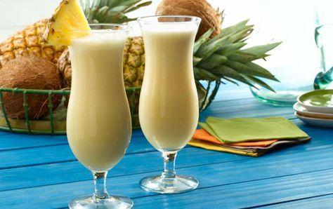 Cocktail Piña colada Weight Watchers , recette d'un délicieux cocktail d'été à base de rhum, de jus d'ananas et de crème de coco.