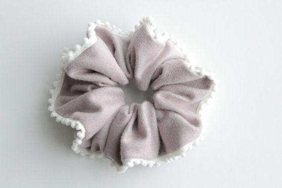 Simple Minimalist Purple Hair Scrunchie with Mini by KHandmadeHK, $12.00