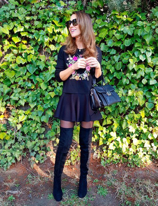 Tras la pista de Paula Echevarría » LADY IN BLACK #botas