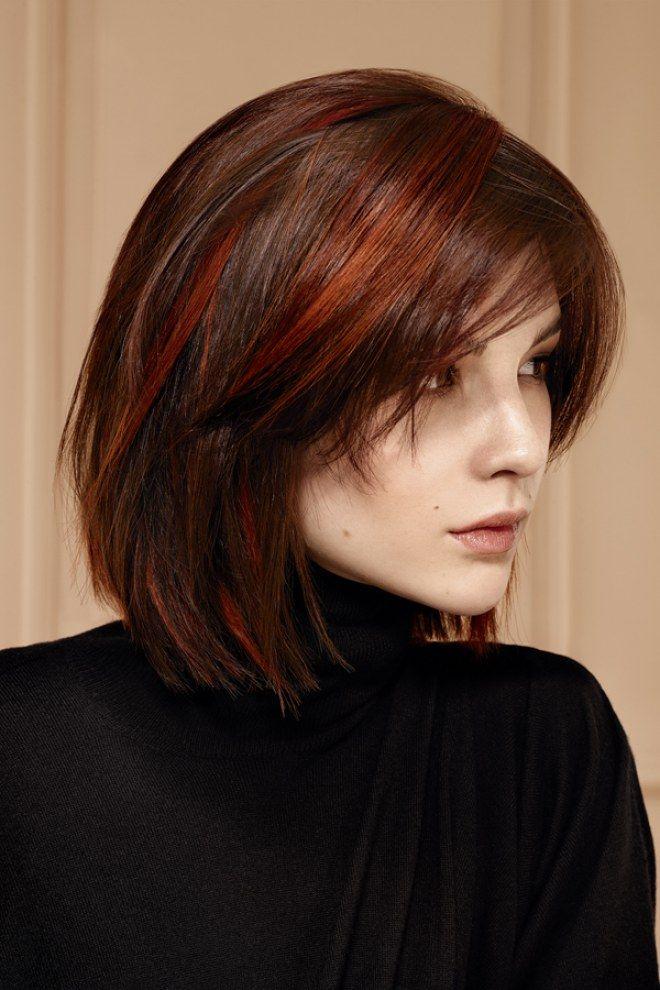 Les 25 meilleures id es de la cat gorie cheveux brun - Brune reflet acajou ...