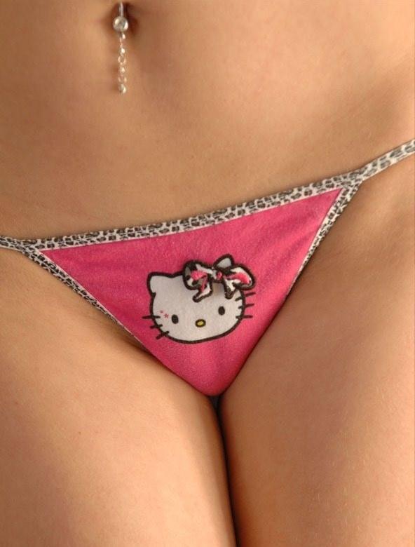 Teen In Hello Kitty Thong 7