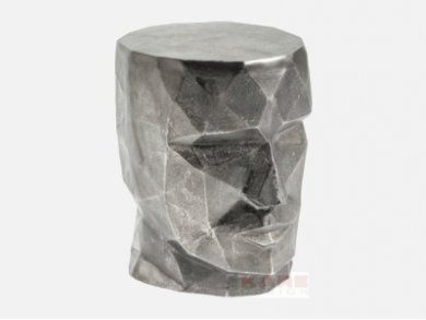 Stołek Face Graphite — Otomany Pufy — KARE® Design