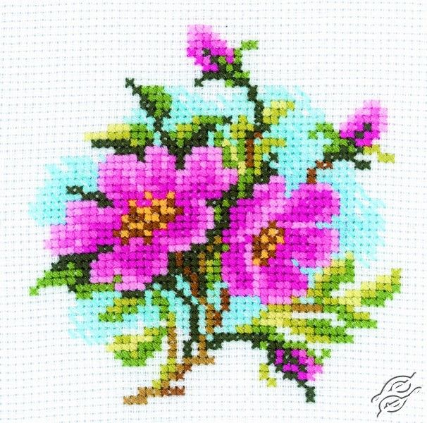 Dog Rose - Cross Stitch Kits by RTO - H175