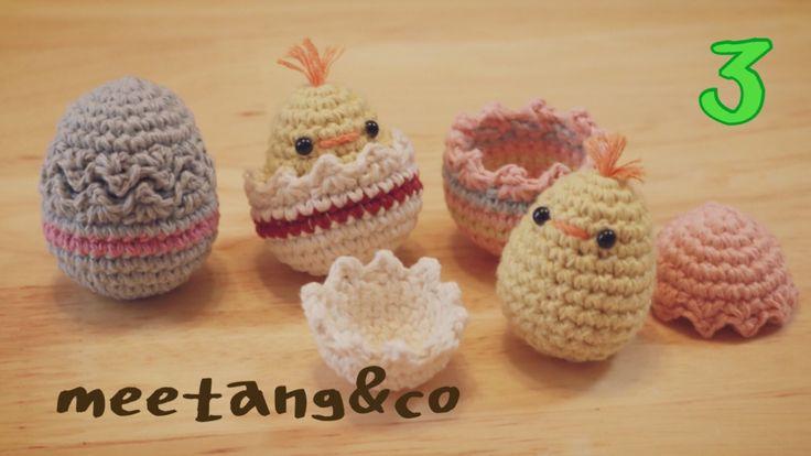 イースターエッグぴよの編み方3/3 How to crochet Easter egg