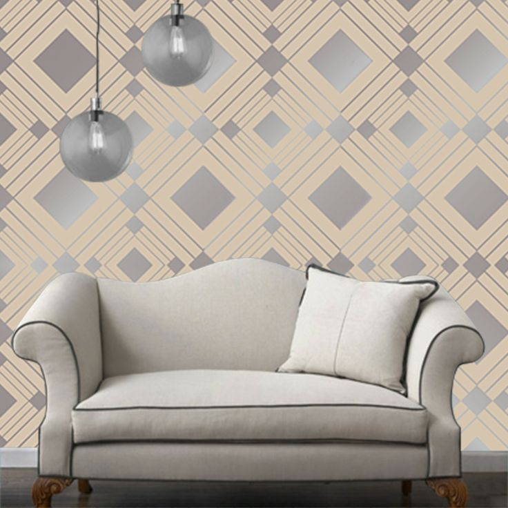 This Self Adhesive, Easily Removable, Repositionable Temporary Wallpaper  Features A Grey Ground Color With A Beautiful And Tasteful Metallic Sheen. Part 50