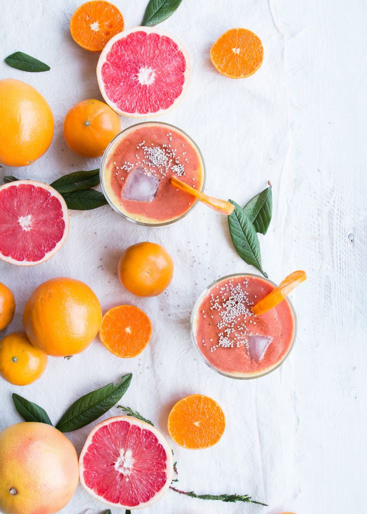 Winter orange smoothie recipe - The Little Plantation blog