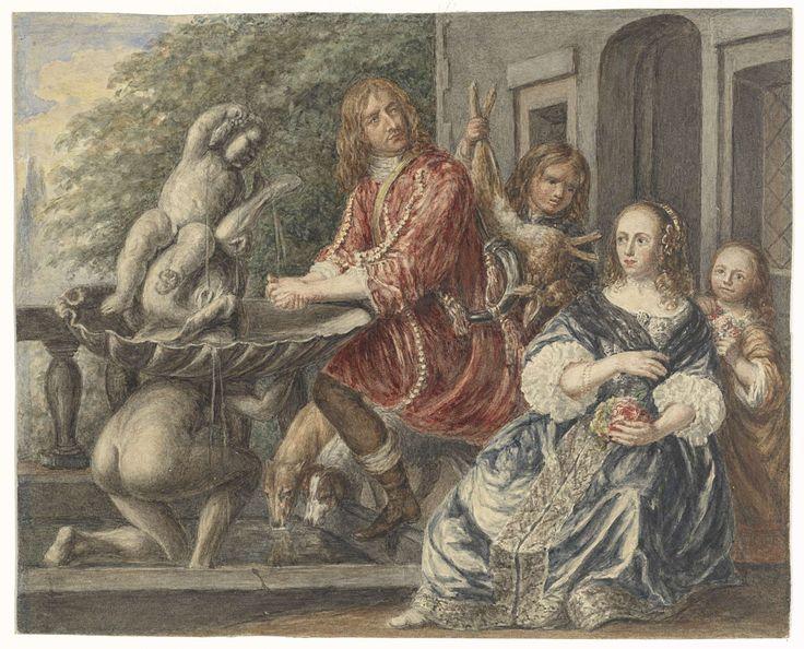 Matthijs Maris | Cornelis de Wit en zijn familie, Matthijs Maris, Martinus Lengele, Pieter van Anraedt, 1849 - 1917 |