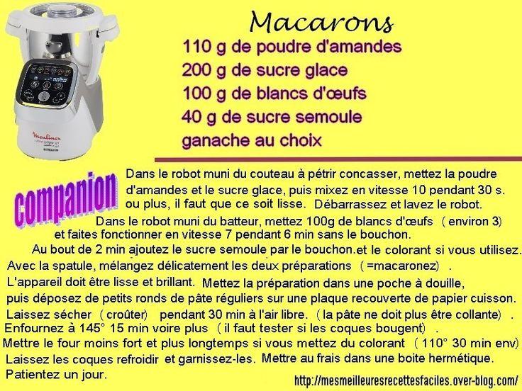 Macarons avec le cuisine companion de Moulinex