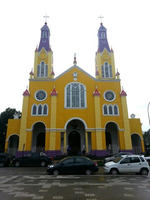 Iglesia Castro, chiloé.  Chile. Patrimonio de la humanidad