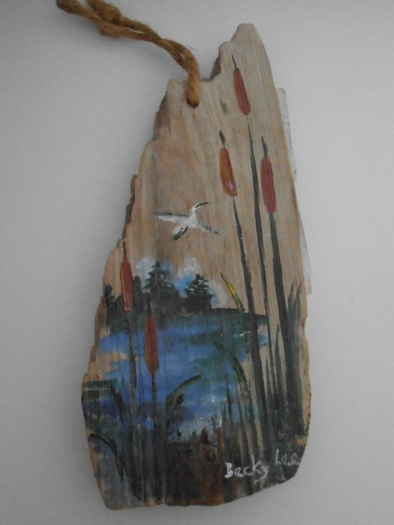 Painting on Driftwood by Becky Lee, South Carolina Artist, Drift Wood
