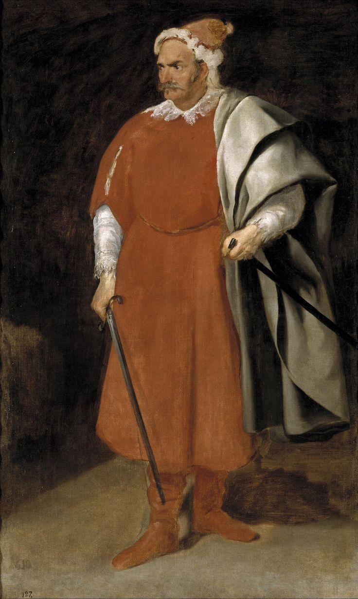 VELÁZQUEZ, Bufón Barbarroja, don Cristóbal de Castañeda y Pernia, 1637-40. Museo del Prado,