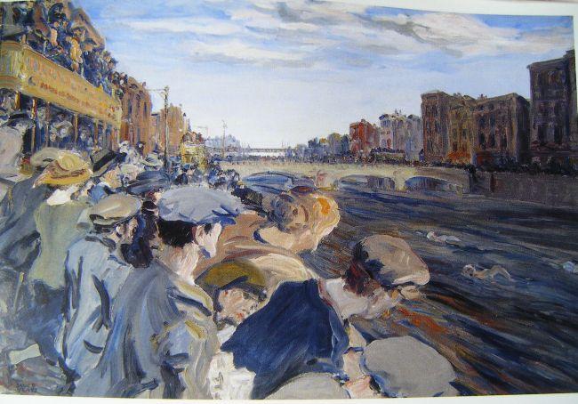 Jack Butler Yeats - The Liffey Swim, 1923