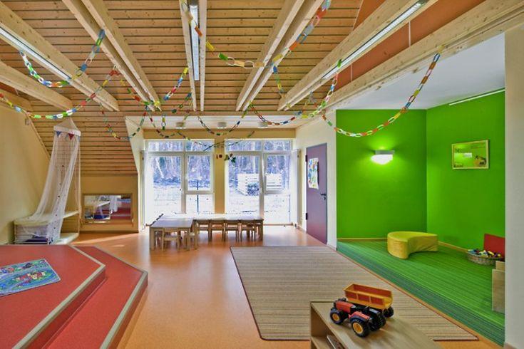 Kita Vorbrück, Walsrode (3m - 3y)  Architekt: KMS Architekten BDA  Fotos: Caparol Farben / Martin Duckek