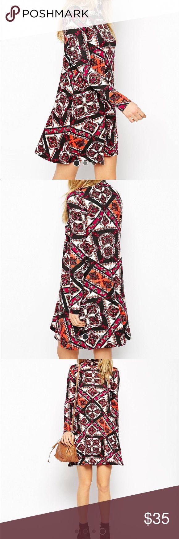 NWT ASOS long sleeved paisley dress NWT ASOS long sleeved paisley dress. Size 0. Purchased from Asos last fall and never wore.   🚫trades 🚫modeling ASOS Dresses Mini