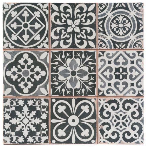 Victorian Marrakesh Black Decor Wall & Floor Tile 33x33cm in Home, Furniture & DIY | eBay