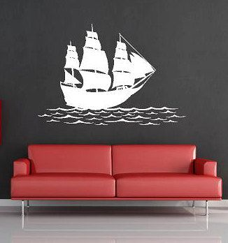 Ship on the water-Vinyl Lettering  decal wall words graphics Home decor itswritteninvinyl on Etsy, $30.00