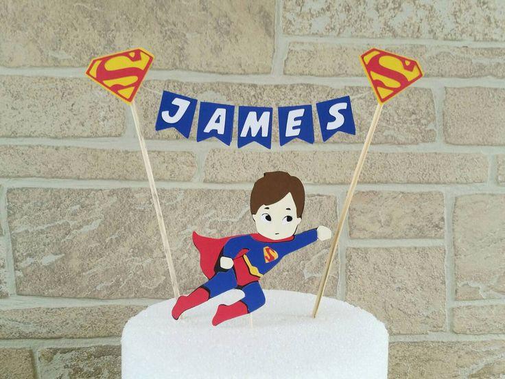 Superman cake topper, Superhero cake topper, Superhero birthday, Avengers birthday, Superman party, Superman birthday, Superman baby shower by KpDigitalCreations on Etsy https://www.etsy.com/listing/474132848/superman-cake-topper-superhero-cake