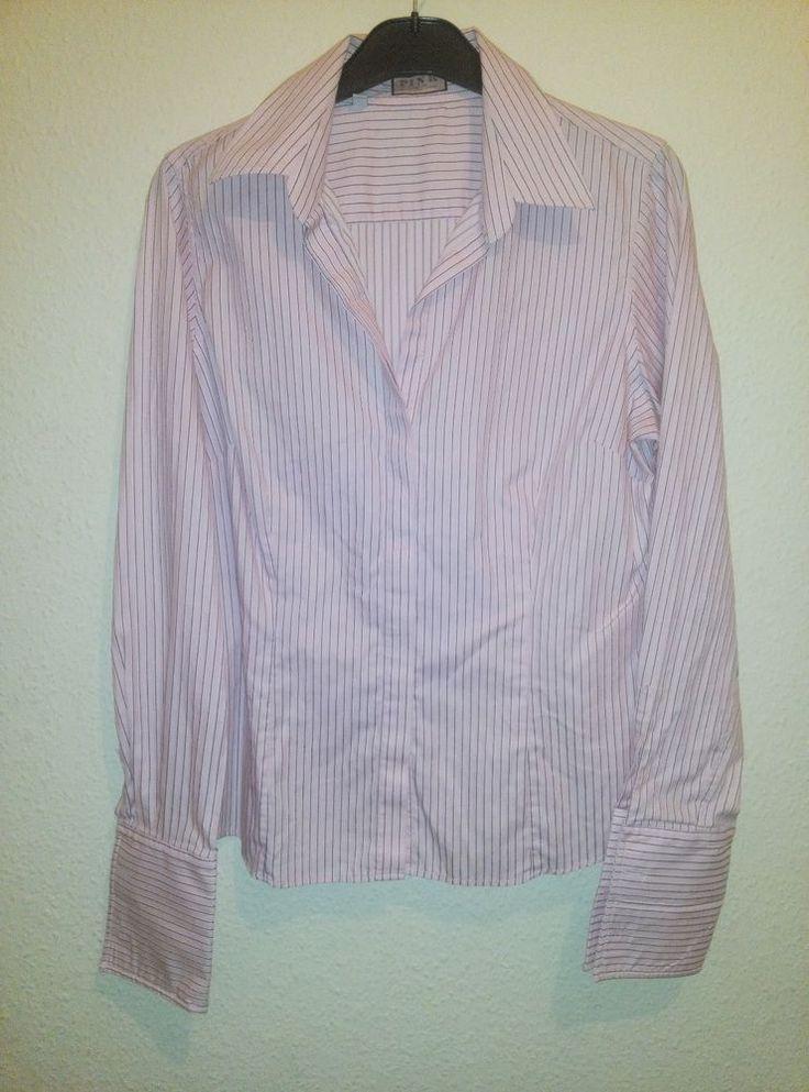 Ladies Thomas Pink London Pink Striped Office Long Sleeve Blouse Shirt Size 16