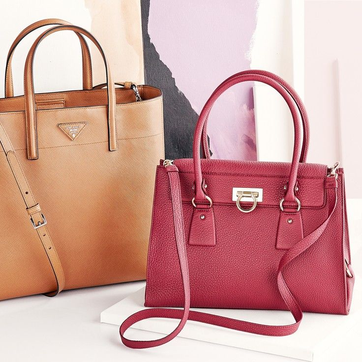 Boxy handbags add a touch of vintage charm to any look.