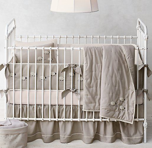 Hand-Knotted Sheep Nursery Bedding Collection