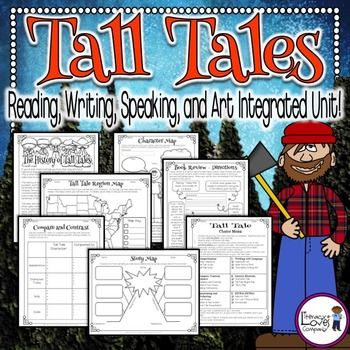 Best 25 tall tales ideas on pinterest tall tales activities tall tales an ela and art integrated unit pronofoot35fo Gallery