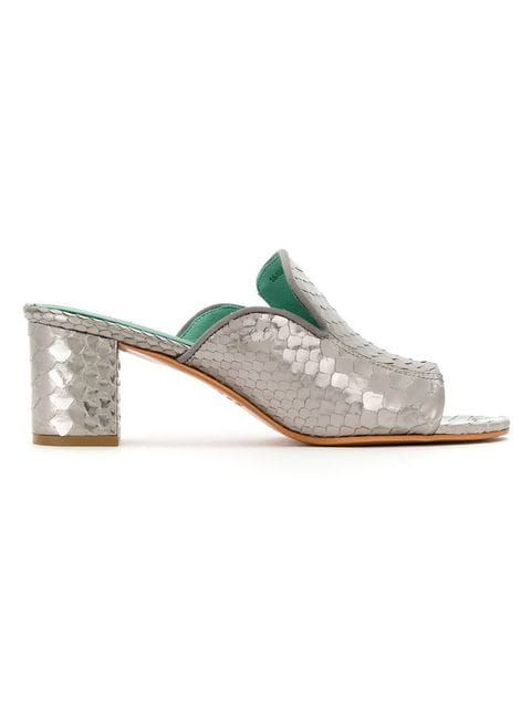 Shoes Shop Bird Skin Mules Python Shoes Blue Ss20 00nx8S