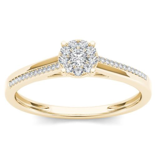 Ethnic Round Cut Solitaire 1.05 ct 14k Yellow Gold Diamond Wedding Women Ring #GoldJewellery17 #SolitairewithAccents