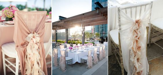 Wedding Chair Decor Ideas. Left to right: Bridal Guide / Style Me Pretty / Southern Weddings