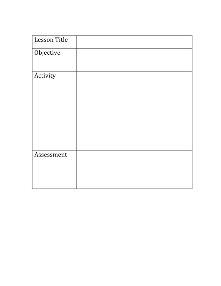 Common core lesson template printable lesson plan template for Sdaie lesson plan template
