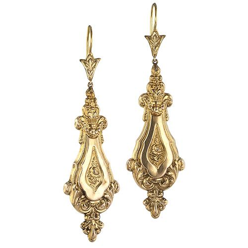 Love these antique Victorian earrings