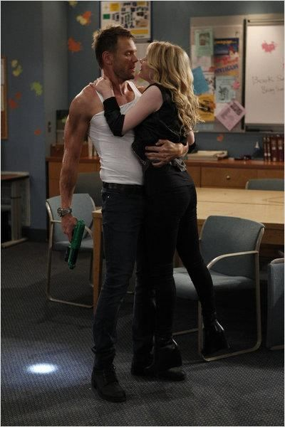 Joel McHale and Gillian Jacobs as Jeff Wingers and Britta Perry on 'Community' (2009)