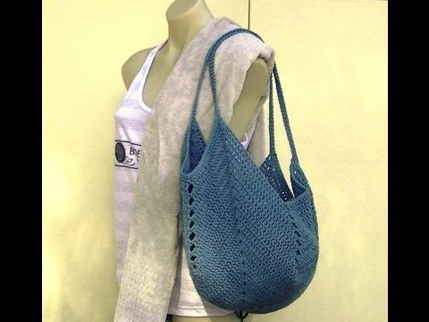 Granny Square Bottom Bag Crochet Tutorial - YouTube