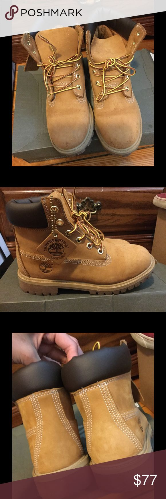 Timbaland Boots! Waterproof! Good condo, slight marks, light creases, a little dirty from snow. Fits like size 6 without soles 👍🏻 Timberland Shoes Boots