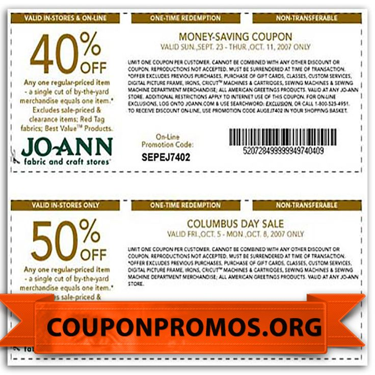 Discover the latest JOANN Fabric coupons featuring the latest savings and discounts at peers.ml From shipping discounts to product coupons, we offer spectacular deals to help save you money on your crafting and fabric needs.