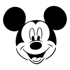 Mickey Mouse face template - good for freezer paper shirts