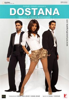 Abichak Bachan, Priyanka Chopra, & John Abraham--Dostana