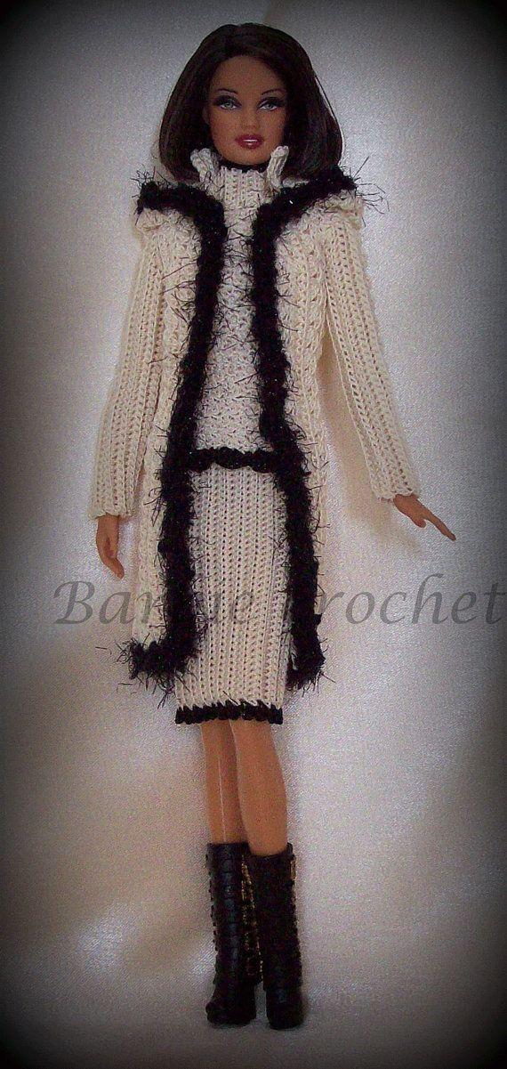 Completo giacca e abito all'uncinetto per barbie di Barbiecrochet, €20.00