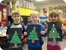 Christmas around the world - We learned that we got the tradition of the Christmas tree from Germany.We read the story The Little Christmas Tree.