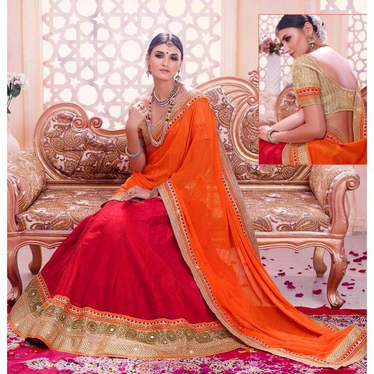 Magnificent Maroon Art Silk Indian #Lehenga Choli- $144.69