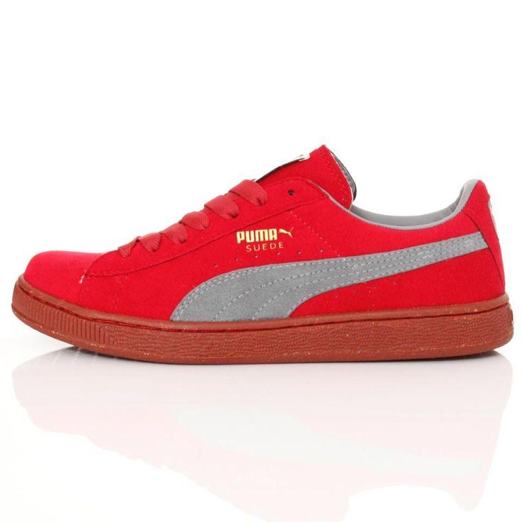 Puma Suede Gris Rouge